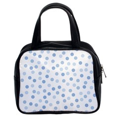 Bubble Balloon Circle Polka Blue Classic Handbags (2 Sides) by Mariart