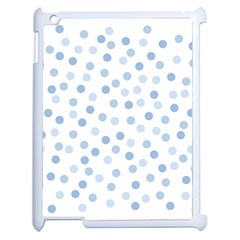 Bubble Balloon Circle Polka Blue Apple Ipad 2 Case (white) by Mariart