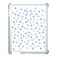 Bubble Balloon Circle Polka Blue Apple Ipad 3/4 Case (white) by Mariart