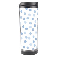 Bubble Balloon Circle Polka Blue Travel Tumbler by Mariart