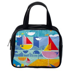 Boats Ship Sea Beach Classic Handbags (one Side) by Mariart