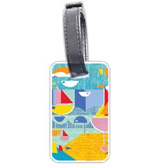 Boats Ship Sea Beach Luggage Tags (one Side)