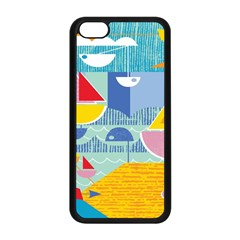 Boats Ship Sea Beach Apple Iphone 5c Seamless Case (black) by Mariart