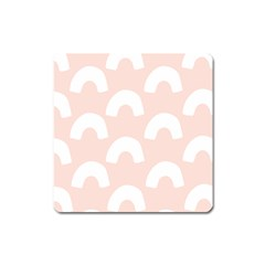 Donut Rainbows Beans Pink Square Magnet by Mariart
