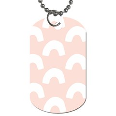 Donut Rainbows Beans Pink Dog Tag (one Side) by Mariart