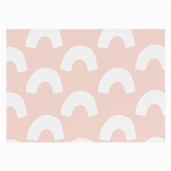 Donut Rainbows Beans Pink Large Glasses Cloth by Mariart