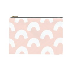 Donut Rainbows Beans Pink Cosmetic Bag (large)  by Mariart