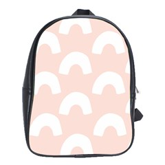 Donut Rainbows Beans Pink School Bags(large)