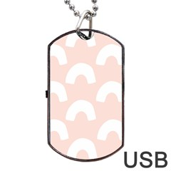 Donut Rainbows Beans Pink Dog Tag Usb Flash (two Sides) by Mariart