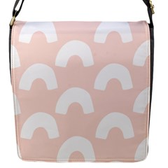 Donut Rainbows Beans Pink Flap Messenger Bag (s) by Mariart