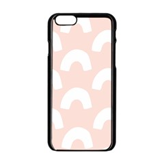 Donut Rainbows Beans Pink Apple Iphone 6/6s Black Enamel Case by Mariart