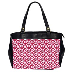 Botanical Gardens Sunflower Red White Circle Office Handbags (2 Sides)  by Mariart