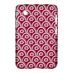 Botanical Gardens Sunflower Red White Circle Samsung Galaxy Tab 2 (7 ) P3100 Hardshell Case  by Mariart