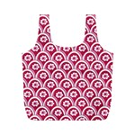 Botanical Gardens Sunflower Red White Circle Full Print Recycle Bags (M)  Back