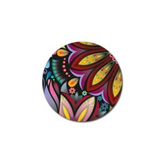 Flower Floral Sunflower Rose Color Rainbow Circle Polka Golf Ball Marker (10 Pack) by Mariart