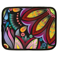 Flower Floral Sunflower Rose Color Rainbow Circle Polka Netbook Case (xl)  by Mariart