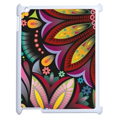 Flower Floral Sunflower Rose Color Rainbow Circle Polka Apple Ipad 2 Case (white) by Mariart