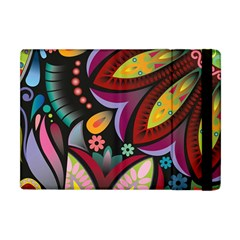 Flower Floral Sunflower Rose Color Rainbow Circle Polka Apple Ipad Mini Flip Case by Mariart
