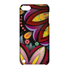 Flower Floral Sunflower Rose Color Rainbow Circle Polka Apple Ipod Touch 5 Hardshell Case With Stand by Mariart