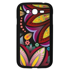 Flower Floral Sunflower Rose Color Rainbow Circle Polka Samsung Galaxy Grand Duos I9082 Case (black) by Mariart