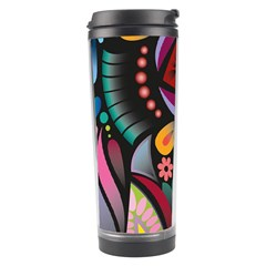 Flower Floral Sunflower Rose Color Rainbow Circle Polka Travel Tumbler by Mariart