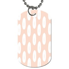Donut Rainbows Beans White Pink Food Dog Tag (one Side)