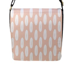 Donut Rainbows Beans White Pink Food Flap Messenger Bag (l)  by Mariart