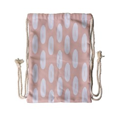 Donut Rainbows Beans White Pink Food Drawstring Bag (small) by Mariart