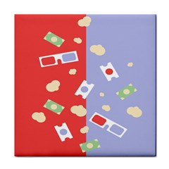 Glasses Red Blue Green Cloud Line Cart Tile Coasters by Mariart