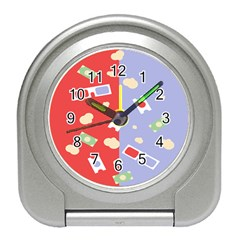 Glasses Red Blue Green Cloud Line Cart Travel Alarm Clocks