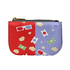 Glasses Red Blue Green Cloud Line Cart Mini Coin Purses by Mariart