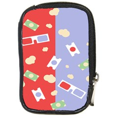 Glasses Red Blue Green Cloud Line Cart Compact Camera Cases by Mariart