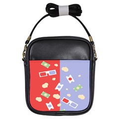 Glasses Red Blue Green Cloud Line Cart Girls Sling Bags