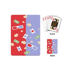 Glasses Red Blue Green Cloud Line Cart Playing Cards (mini)  by Mariart