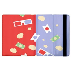 Glasses Red Blue Green Cloud Line Cart Apple Ipad 3/4 Flip Case by Mariart
