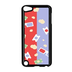 Glasses Red Blue Green Cloud Line Cart Apple Ipod Touch 5 Case (black) by Mariart