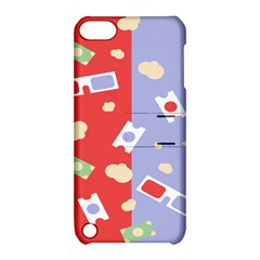 Glasses Red Blue Green Cloud Line Cart Apple Ipod Touch 5 Hardshell Case With Stand by Mariart