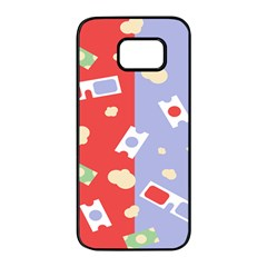 Glasses Red Blue Green Cloud Line Cart Samsung Galaxy S7 Edge Black Seamless Case by Mariart