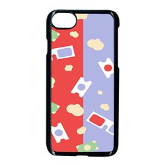 Glasses Red Blue Green Cloud Line Cart Apple Iphone 7 Seamless Case (black) by Mariart