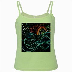Fish Out Of Water Monster Space Rainbow Circle Polka Line Wave Chevron Star Green Spaghetti Tank by Mariart