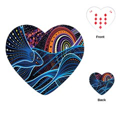 Fish Out Of Water Monster Space Rainbow Circle Polka Line Wave Chevron Star Playing Cards (heart)  by Mariart