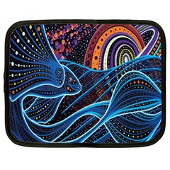 Fish Out Of Water Monster Space Rainbow Circle Polka Line Wave Chevron Star Netbook Case (large)