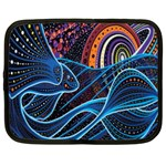 Fish Out Of Water Monster Space Rainbow Circle Polka Line Wave Chevron Star Netbook Case (Large) Front