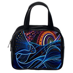 Fish Out Of Water Monster Space Rainbow Circle Polka Line Wave Chevron Star Classic Handbags (one Side) by Mariart