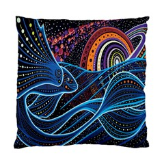 Fish Out Of Water Monster Space Rainbow Circle Polka Line Wave Chevron Star Standard Cushion Case (one Side)