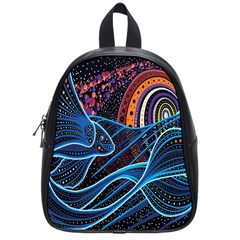 Fish Out Of Water Monster Space Rainbow Circle Polka Line Wave Chevron Star School Bags (small)  by Mariart