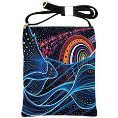 Fish Out Of Water Monster Space Rainbow Circle Polka Line Wave Chevron Star Shoulder Sling Bags by Mariart