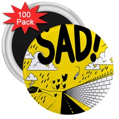 Have Meant  Tech Science Future Sad Yellow Street 3  Magnets (100 Pack) by Mariart