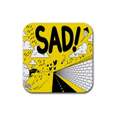 Have Meant  Tech Science Future Sad Yellow Street Rubber Square Coaster (4 Pack)  by Mariart