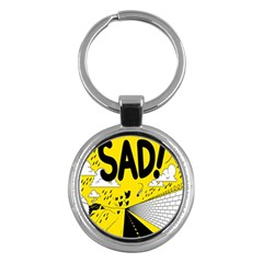 Have Meant  Tech Science Future Sad Yellow Street Key Chains (round)  by Mariart